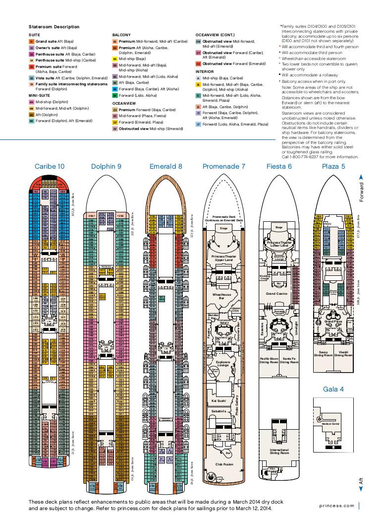 Princess Cruises Ruby Princess  Cruise Ship Information